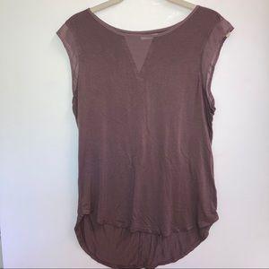 Maurices purple sleeveless blouse sheer detail